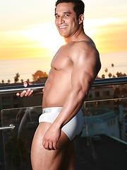 Muscle man posing