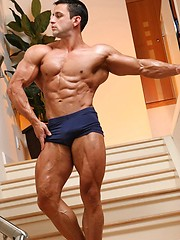 Alejandro shows his  extremely hot ripped body