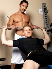 Hard anal fucking after hard gym training