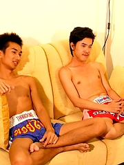 Two Thai Boys in The Cock Olympics