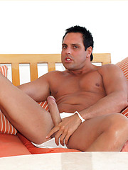 Marcello shows off his gorgeous holiday pics and hard cock