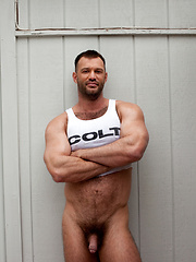 Big muscled hairy hunk