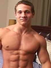 Naked athletic boy