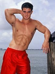 Young jock Alain Lamas by the water
