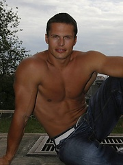 Fit jock Phil Helm strips off his clothes