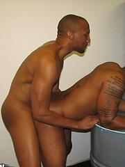 Black gay boyfriends in anal coupling