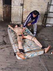 Kenzie massaging Calvin Croft and making him orgasm