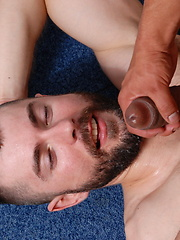Hot beared guy have sex with his daddy friend