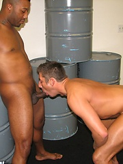 Zac swallow Kamruns thick uncut black cock and he took it all