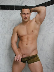 Sexy stud Simon Grenier shows off his body