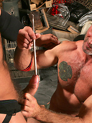 The bodybuilders worship each others physiques and shove thick, massive rods down their cocks