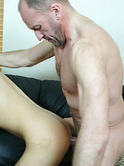 Young hunk done orally and anally by a gay oldie