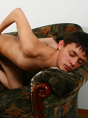 Ready for action twink boy milking his juicy dick