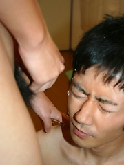 Tomo shows us his expert cock sucking skills as he blows this cute boy