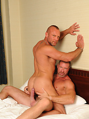 Lee bends Chad over and rims his raw ass deep