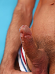 Hairy, uncut, muscled gay star Issac Jones