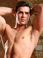 Straight hairy hunk has great body and a stunningly thick, heavy cock