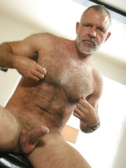 Hot older gay bear get naked before our camera