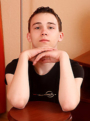 Cute teen boy first adult photo session