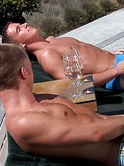 Muscle men fucking outdoors