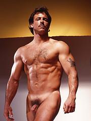 Muscle man posing naked