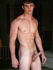 Innocent stud Shay posing naked