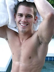 Naked fratboy Colby posing before camera