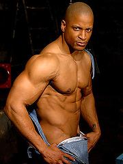 Ebony bodybuilder Doug Towers