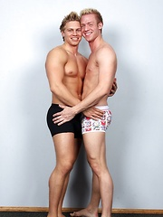 Two blond studs Brady and Casey fucking
