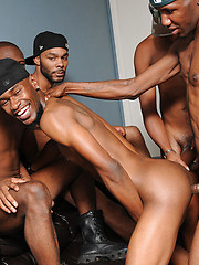 All the ass-licking and cock-sucking continues for our black beauties