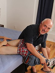 Old Jake sucked young cock, rimmed his ass and kissed his body