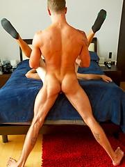 Tall, hung, handsome, muscular stud Jake tops beautiful new recruit Sawyer