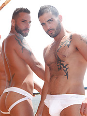Edji Da Silva and Mathew Mason take turns on Jonathan Agassi