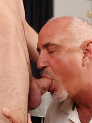 Jake sucks Chance Logans cock for a creamy finish