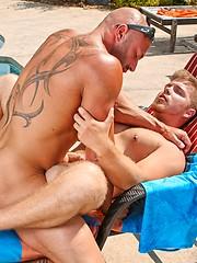 Gay sex near the pool. Marko Lebeau and Max Chevalier