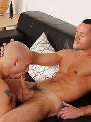 John Magnum and Valentin Petrov compare dick sizes in the living room