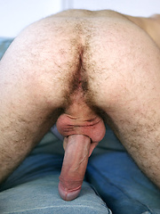 Matthew Mills shows his hairy hole