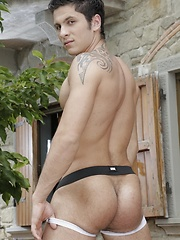 Staxus - Outdoors: Brad Fitt Gets Oodles Of Jizz In His Ass Thanks To A Balcony-Fuck From A Hot, Horny Stud!
