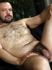 Furry bear, Ceasar Calderon is sweet and has a warm smile