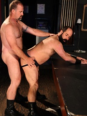 At The Lone Star Bar, hot bartender Clint Taylor over hears hungry bottom Scott Cardinal say he needs a good hard fuck
