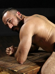 Muscle bear Alessio Romero is so damn hot you will break a sweat just looking at his muscular hairy body