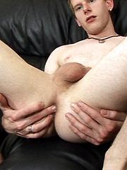 Big cocked twink masturbates & cums