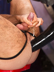 Dolan Wolf and Drew Sebastian are locked in a deep-fist 69