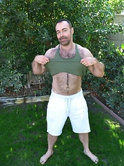 Brad Kalvo Joins Carlo Cox and Marc Angelo For An Outdoor Fuck
