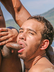 Barebacking at the Beach with Black Cock