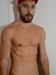 Coming from Corsica, this exotic, bearded French man slowly strips off for us all
