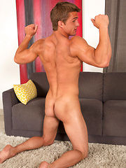 Tanned surfer boy Payton with adorable body