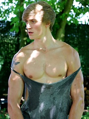 Cute and muscular Blake Orson is happy to show off his great body for you